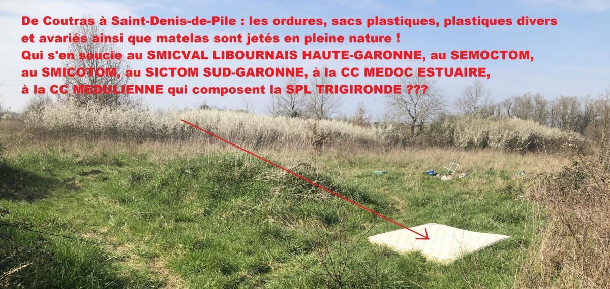 Depots sauvages matelas saint denis de pile b aura environnement
